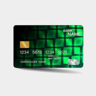 Karta kredytowa z zielonymi elementami