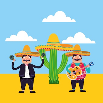 Karta kreskówek z meksyku