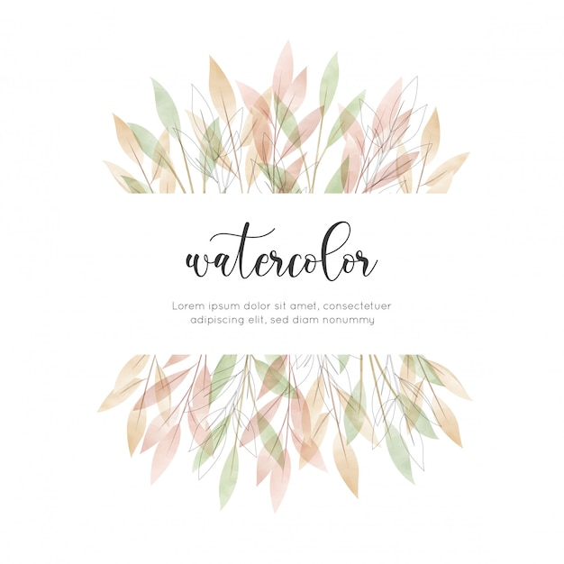 Karta kwiatowy akwarela stylu cyganerii