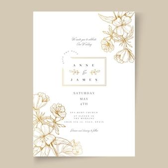 Karta kwiatowy ślub