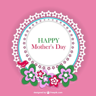 Karta kwiatu koronki dzień matki