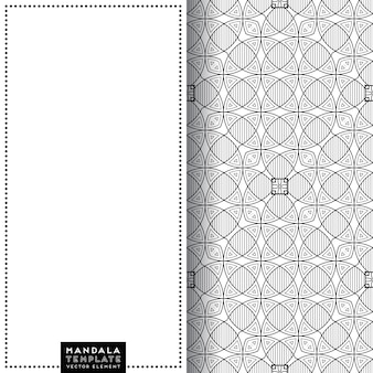 Karta mandali z wzorem etniczne elementy dekoracyjne