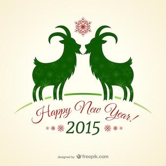 Karta nowy rok winobrania