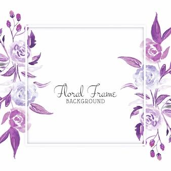 Karta piękny kwiat akwarela