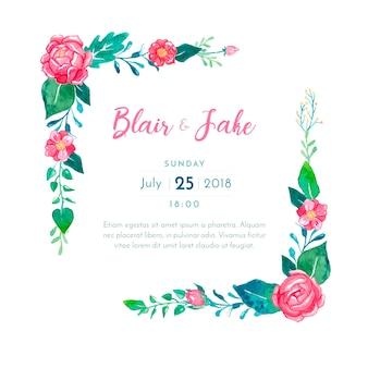 Karta piękny ślub zaproszenia