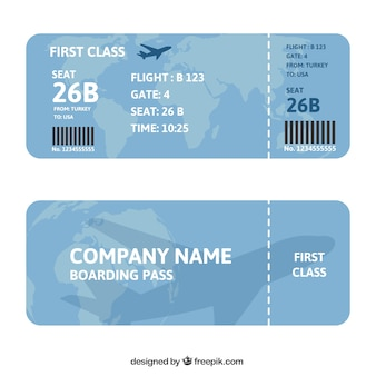 Karta pokładowa z mapy i samolotu tle
