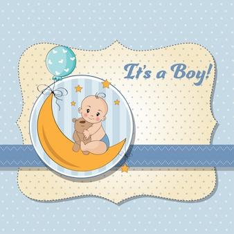 Karta prysznic chłopca
