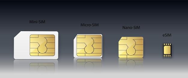 Karta sim inteligentna bezprzewodowa komunikacja bezprzewodowa z chipem gsm i mikroprocesorem telekomunikacyjnym ...