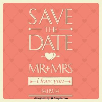 Karta ślub projekt typograficzny