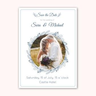 Karta ślub z szablonem fotograficznym