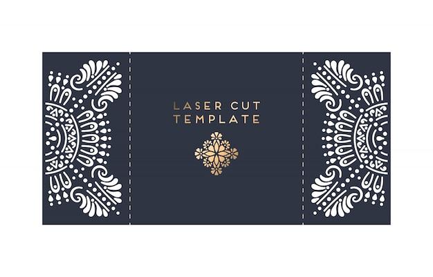 Karta ślubna laserowo wycinana karta