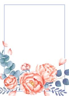 Karta ślubna o tematyce kwiatowej