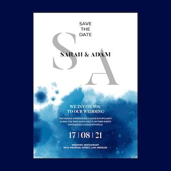 Karta ślubna w minimalistycznym stylu