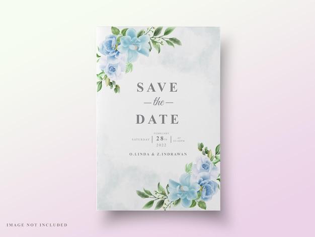 Karta ślubna zieleń kwiatowy wzór