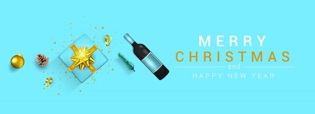 Karta świąteczna noworoczna - wesołych świąt