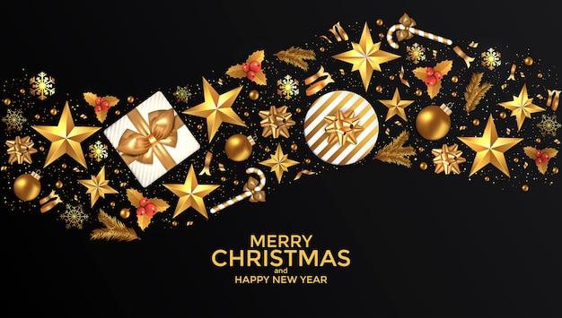 Karta świąteczna noworoczna