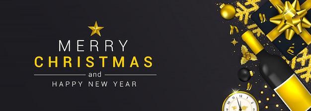 Karta świąteczna nowy rok boże narodzenie