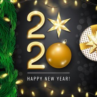 Karta szczęśliwego nowego roku 2020