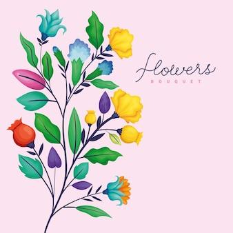 Karta tło kwiaty