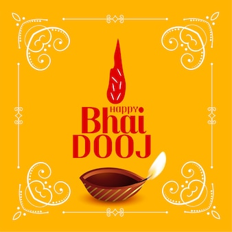 Karta tradycyjnego festiwalu szczęśliwy bhai dooj