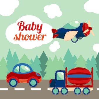 Karta transportowa zabawek dla dzieci