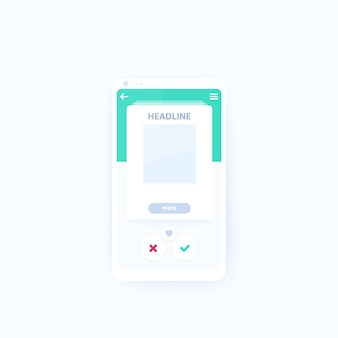 Karta ui do aplikacji mobilnej