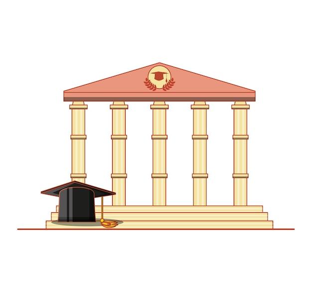 Karta ukończenia z klasycznym budynkiem
