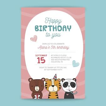 Karta urodzinowa dla dzieci