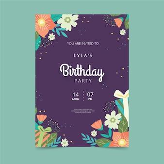 Karta urodzinowa w stylu kwiatowym