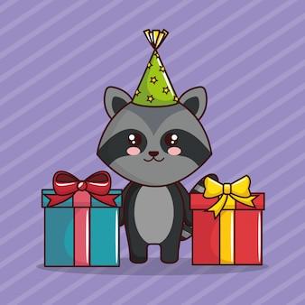 Karta urodzinowa z cute szop
