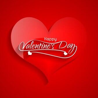 Karta valentine z wielkim czerwonym sercem