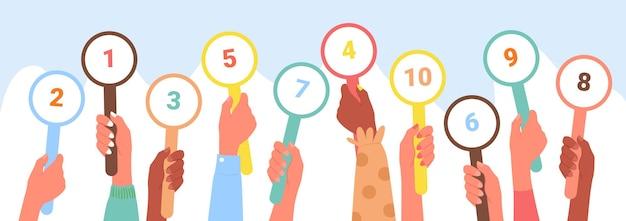 Karta wyników ocena opinii klientów koncepcja obsługi opinii klientów zróżnicowana ocena rąk klientów głosowanie