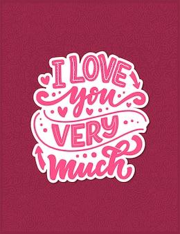 Karta z hasłem o miłości w pięknym stylu.