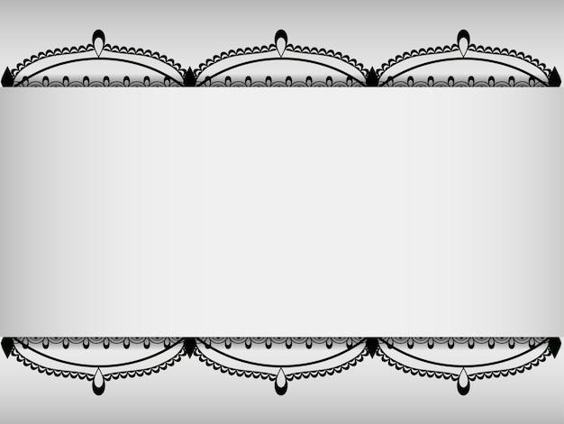Karta z koronkowymi czarnymi elementami