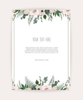 Karta z kwiatem róży