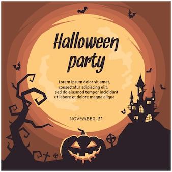 Karta z motywem halloween