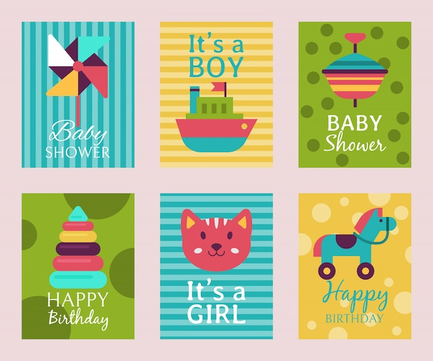 Karta z okazji urodzin t-shirt z nadrukiem baby shower.