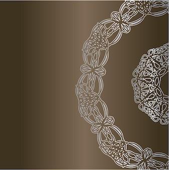 Karta z okrągłymi ornamentami koronki