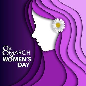 Karta z pozdrowieniami dzień kobiet