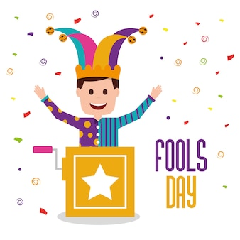 Karta z pozdrowieniami fools day