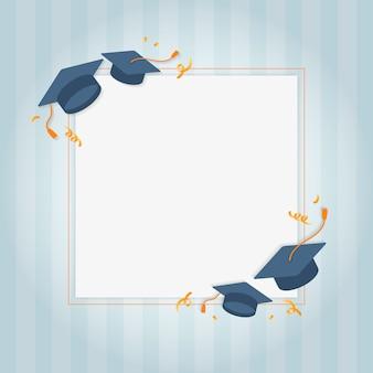 Karta z pozdrowieniami graduation