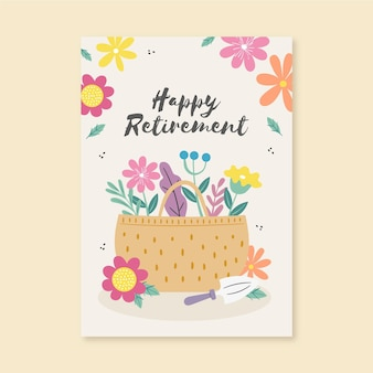 Karta z pozdrowieniami kreatywnych emerytury