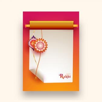 Karta z pozdrowieniami raksha bandhan.