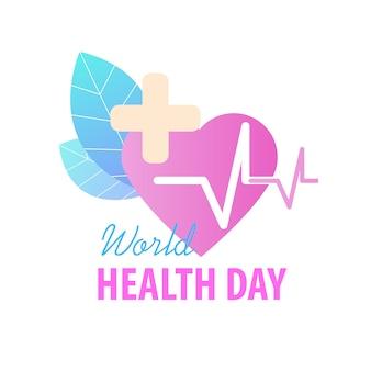 Karta z pozdrowieniami z okazji światowego dnia zdrowia
