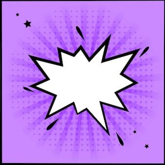 Karta z szablonem projektu w stylu komiksu, w stylu pop-art.