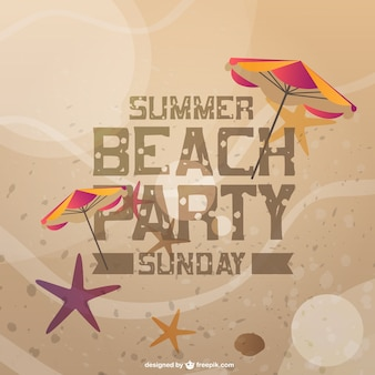 Karta z zaproszeniem lato impreza plaża