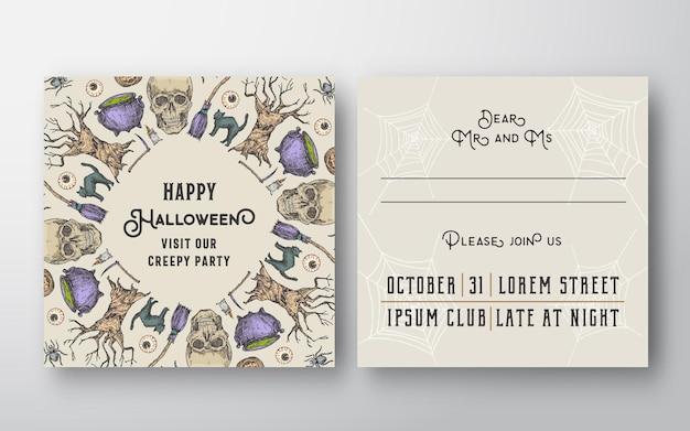 Karta z zaproszeniem na halloween