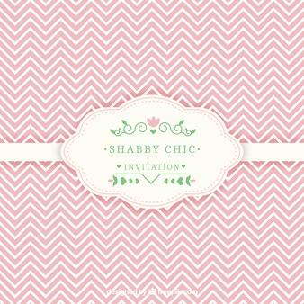 Karta z zaproszeniem shabby chic