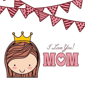 Karta z życzeniami szczęśliwymi matkami