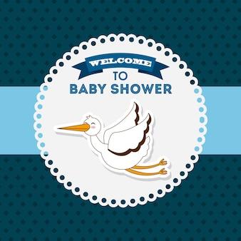 Karta zaproszenie na baby shower